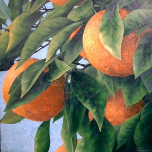 "Art by Nick Stephens, ""Oranges in Oil"""